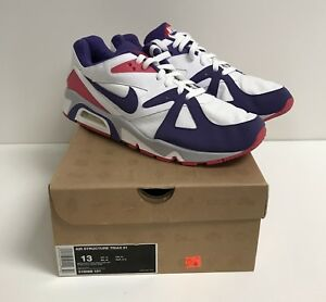 8a3feb2cce5b Nike Air Structure Triax 91 White Purple Berry NEW max 1 90 95 ...