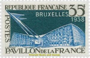 EBS-France-1958-World-EXPO-Brussels-Exposition-de-Bruxelles-YT-1156-MNH