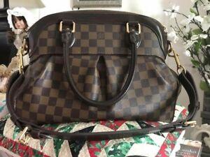 cdb4f9374a1c LOUIS VUITTON DAMIER EBENE Trevi PM Large Purse Shoulder Bag 100 ...