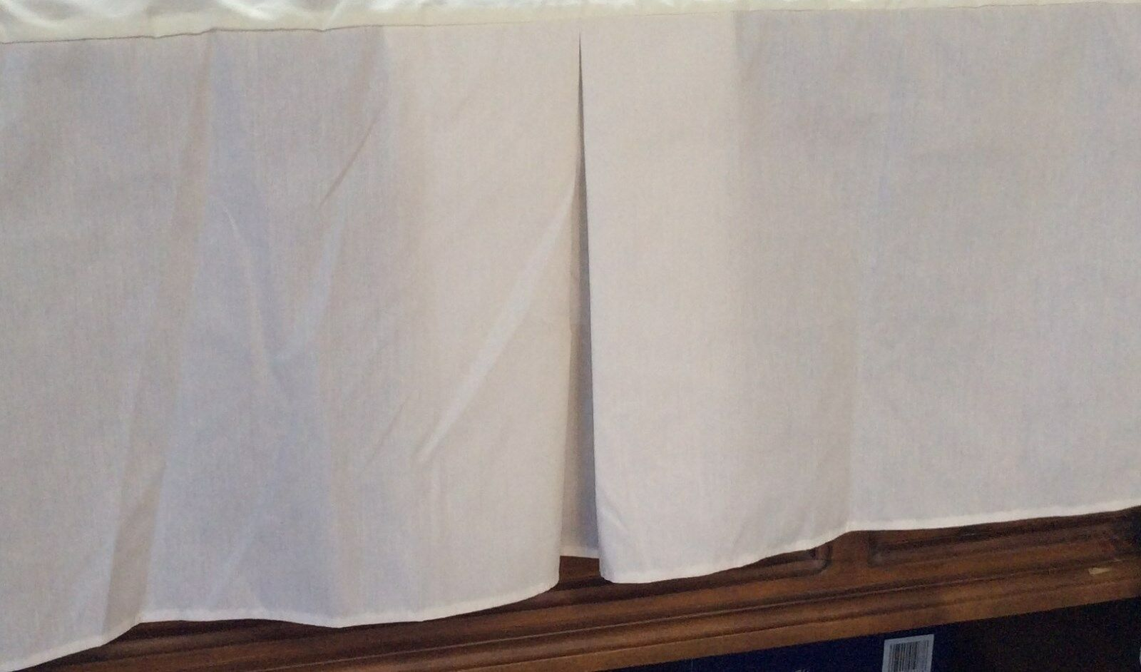 Queen size Dust Ruffle - Ruffled or Tailored - ECRU IVORY 14 , 18, 21  drops