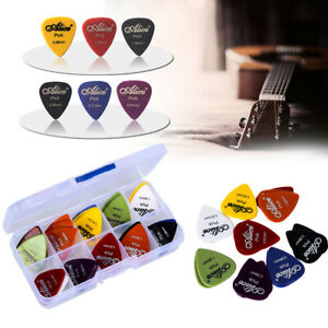 Alice-Acoustic-Electric-Guitar-Picks-Plectrums-Mixed-Assorted-Colors-Box-Case-UK