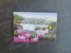 2005-MONSERRAT-ORCHIDS-OF-THE-CARIBBEAN-STAMP-MINI-SHEET-MNH