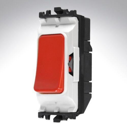 Mk grille plus push to break commutateur 20A DP 1 moyen rouge rétraction commutateur k4915red