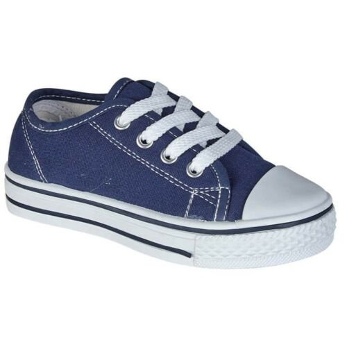 Girls /& Boys Canvas Trainers// Pumps//Plimsoll //Urban Jacks Canvas Sizes 6 to 12