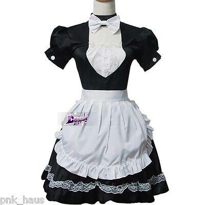Prinzessin Lace Japanische Maid Schwarz&weiß Cosplay Kostüm Kleid Rock Mädchen
