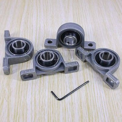 4PCS 15mm Bore Ball Mounted Block Cast Housing Self-aligning Pillow Bearing