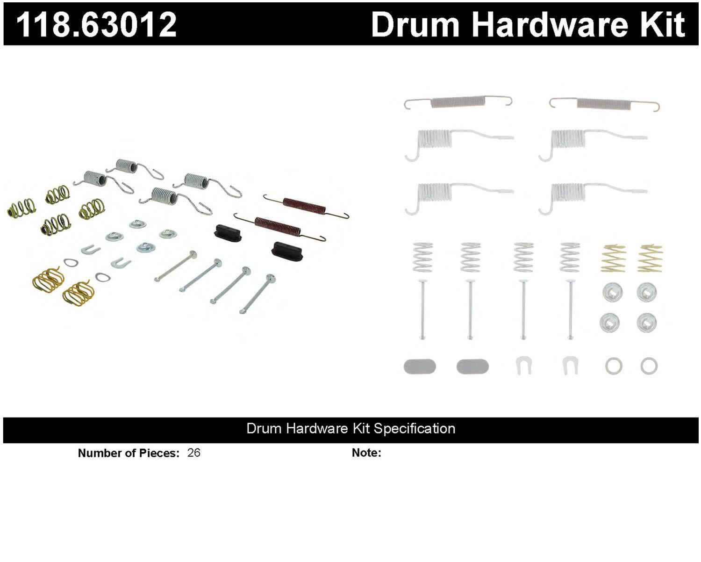 Disc Brake Hardware Kit Centric 118.46020