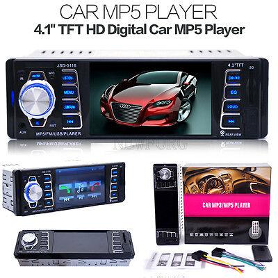 In Dash Car MP5 Player USB/TF MP3 Stereo Audio Receiver Bluetooth FM Radio AUX