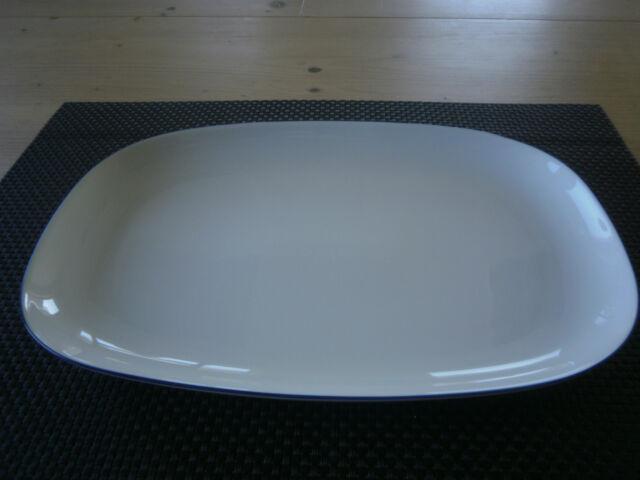 Platte oval 32 cm Blue Colour Arzberg Porzellan weiß , blauer Rand  NEU