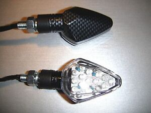 Mini BLINKER schwarz universal alle motorrad FLEXIBEL YAMAHA HONDA DUCATI BMW