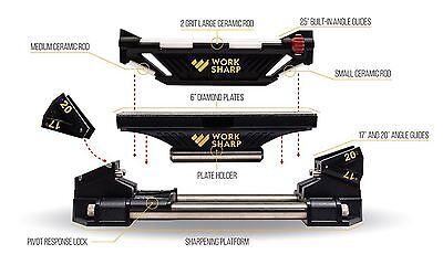 Work Sharp Guided Sharpening System Schärfgerät Affilacoltelli Darex Made In Usa-