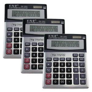 XL-Taschenrechner-grosse-Tasten-Buerorechner-Tischrechner-Schulrechner-im-3-er-Set