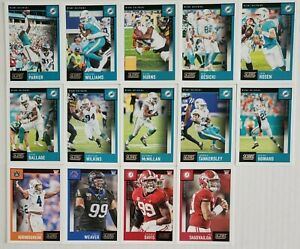 2020-Panini-Score-Miami-Dolphins-Team-Set-with-Rookies-14-Card-Lot-Tagovailoa-RC
