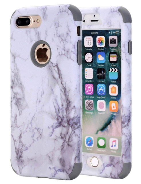 new product dc3cf 3546d Iphone7 Plus Marble Speck Case Pastel Real Extra Slim Fashion Protective  Cover