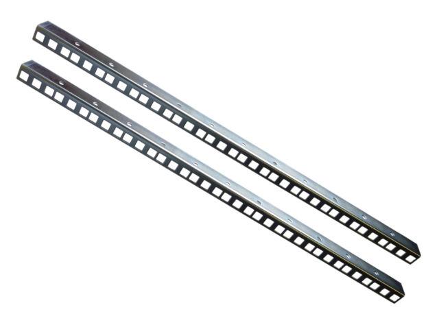 12U Rack Strip Pair Zinc Clear Finish 1.5mm Thickness 24.2 x 19.2mm