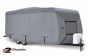 S2-Expedition-Premium-Travel-Trailer-RV-Cover-fits-29-039-30-039-Length-Gray