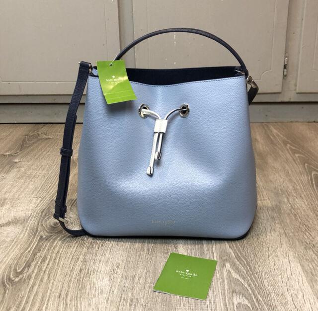 Blue Bucket leather bag Leather Shoulder Bag Blue Leather Bag LEATHER TOTE Bag Blue Leather Handbag