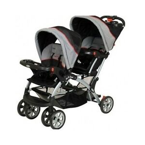Image Is Loading Double Stroller Car Seat Baby Infant Sit And
