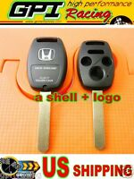 Blade Replacement Keyless Remote Shell Case Key For Honda 3+1 Buttons