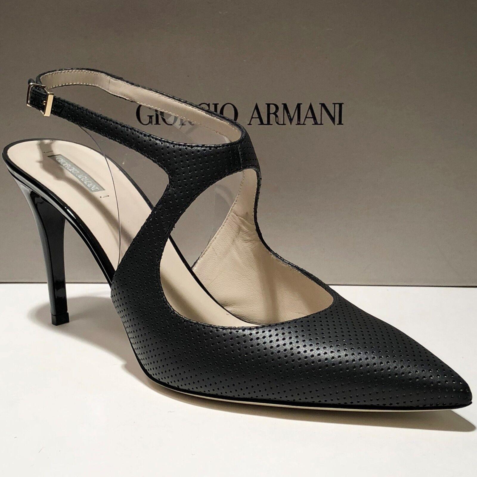 si affrettò a vedere    895 Giorgio Armani Donna  nero 10 40 Leather Fashion Ankle Strap Heels Pumps  fino al 50% di sconto