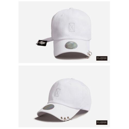 Unisex Mens Womens Flipper 3 Rings Strap Label Tag Baseball Cap Trucker Hats