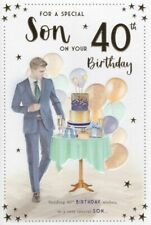 40th BROTHER BIRTHDAY CARD ~ AGE 40 MODERN DESIGN QUALITY CARD /& LOVELY VERSE