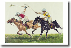 Pair-of-Polo-Players-Vintage-Art-Print-NEW-POSTER