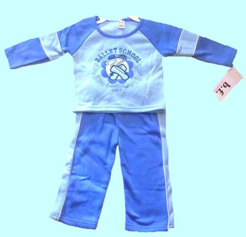 BALLET SCHOOL BABY  BOYS JOG SUIT- EMBROIDERED BLUE BNWT b.f