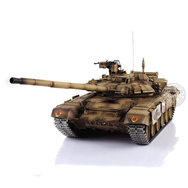 Reino Unido stock Henglong  Actualizado Metal ver Amarillo Russia T90 RTR RC Tanque 3938