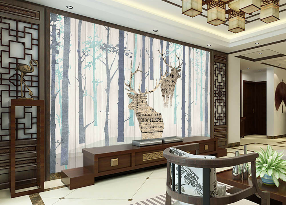 Knowledge Of Deer 3D Full Wall Mural Photo Wallpaper Printing Home Kids Decor
