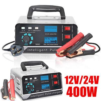 24V Caricabatteria per Auto Automatico Smart Pulse Repair Boat Trickle EU Plug Nrpfell 400W 30A 12V