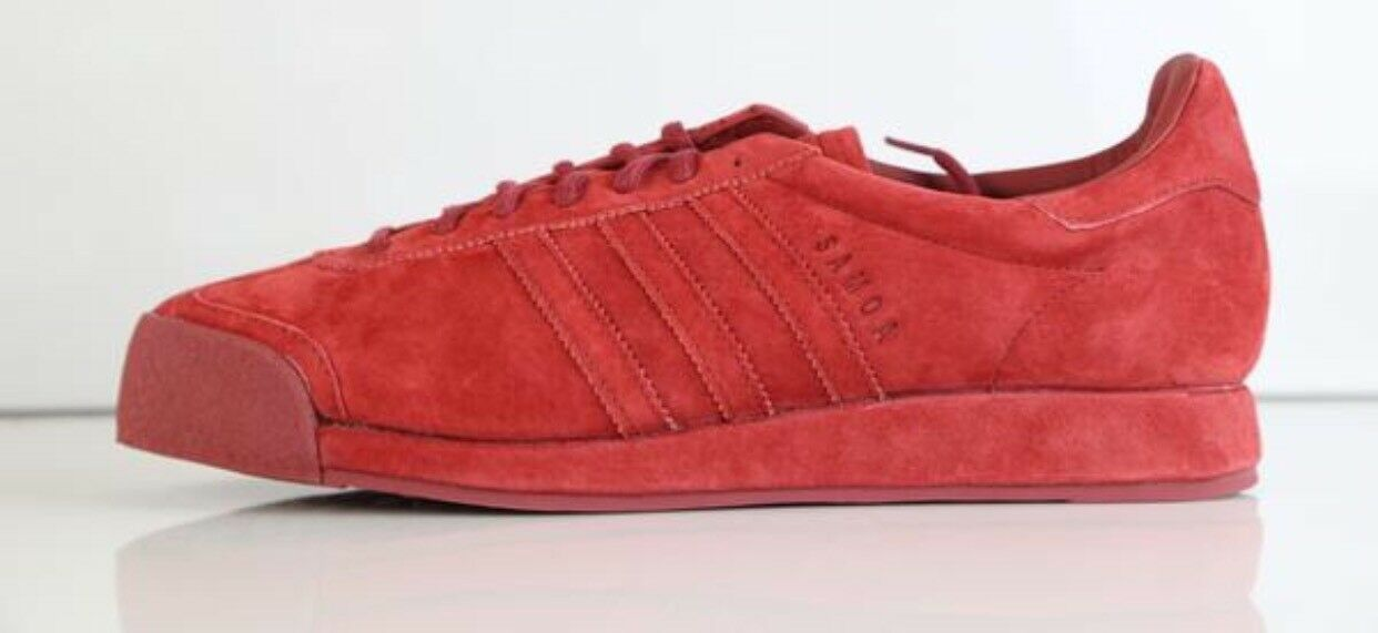 ADIDAS SAMOA VINTAGE VNTG SUEDE PIG SKIN MYSTERY RED B39016 NEW SIZE 10 New!!!