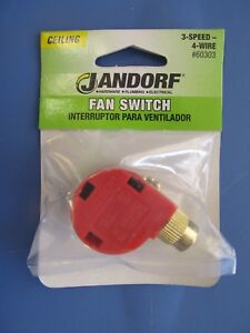Details about Jandorf 3-Sd Ceiling Fan Switch with pull chain #60303 on