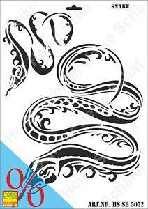 Schablone-Stencil-A3-314-5052-Snake-Schlange-Neu-Heike-Schaefer-Design