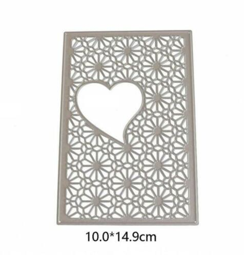 Wedding Love Heart Cutting Dies Frames Metal Stencil Scrapbooking Die Cuts DIY