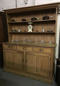 Luxurious Country House Victorian Pine Dresser Kitchen Cooking
