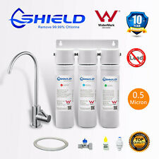 PLATINUM 3 Stages Undersink Silver Weak Alkaline Water Filter System SUS304 Tap