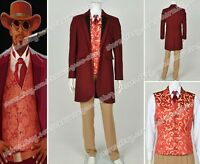 Django Unchained Cosplay Monsieur Calvin J Candie Costume Whole Set Party Suit