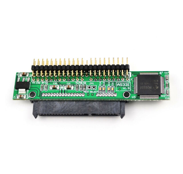 """NEW 7+15 Pin SATA SSD HDD Female to 2.5"""" 44Pin IDE Male Adapter for Laptop LW"""