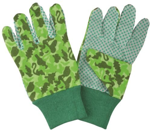 Esschert Design Kinder Handschuhe Gartenhandschuhe Camouflage grün Garten Stoff