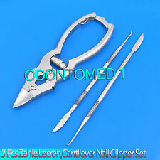 Set Of 3 Zahle,Lecron,Cantilever Nail Clipper Heavy Duty Thick Nipper Chiropody