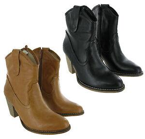 Fabulous Cowboy Ankle Heels Slip On Zip Ankle Heels Ankle Western Mujer botas e0c84e