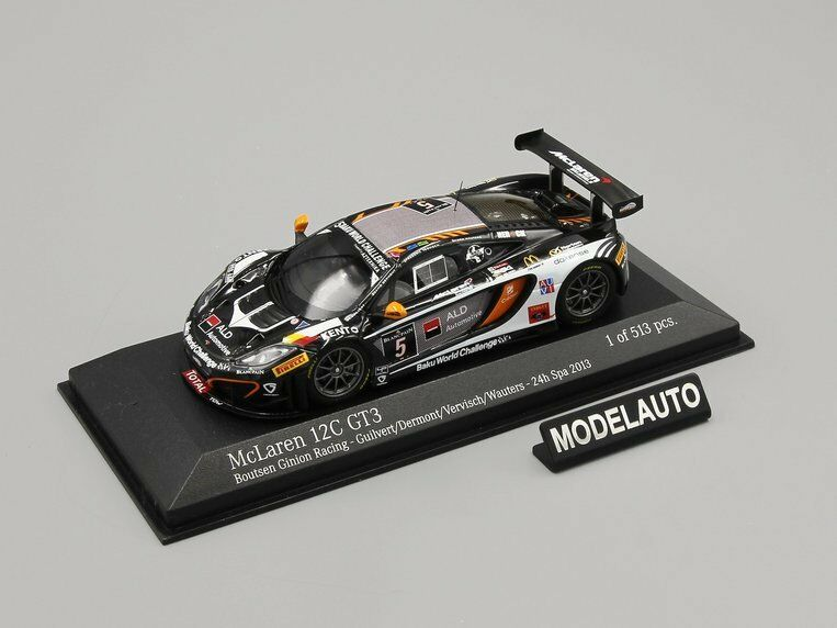 Minichamps 1 43 McLaren MP4-12C GT3 BOUTSEN GINION RACING 24 H Spa 2013 L. E. 513