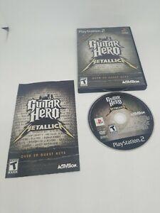 Guitar-Hero-Metallica-Sony-PlayStation-2-PS2-Black-Complete-CIB-Game-Case-Man