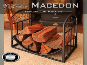 FIREPLACE ACCESSORIES MACEDON Indoor Log Rack / Storage FIREWOOD ...