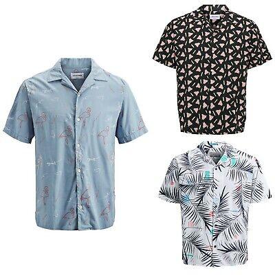 Jack&Jones Hombre Camisa animal print corta 21702