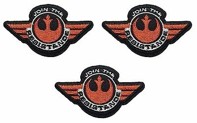 """Star Wars JOIN THE RESISTANCE 3/"""" WIDE  Embroidered Patch"""