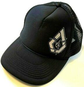 Volcom-Schaum-Trucker-Hut-Mesh-Herren-Snap-Back-Adjustable-schwarz-Cap-Surf-Skate