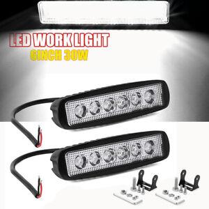2x-6-034-Inch-30W-Led-Work-Light-Bar-Spot-Lamp-For-Offroad-ATV-SUV-Fog-Truck-4WD-12V