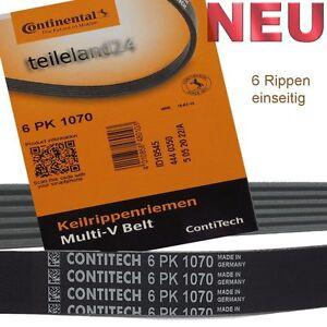 NEU-CONTITECH-6PK1070-Keilrippenriemen-VW-Golf-Passat-Touran-Motorcode-Beachten